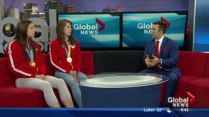 Plouffe sisters talk about winning Pan Am gold in front of the home crowd